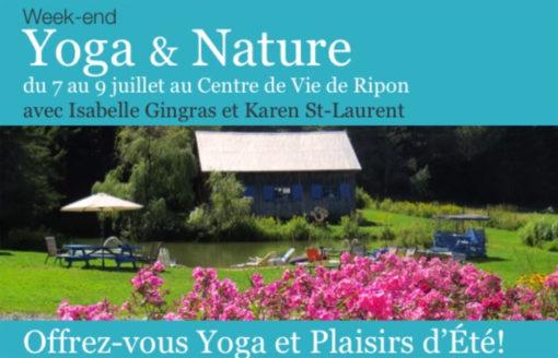 Informations Retraite Yoga extérieur au Centre de vie - Ripon_ Outaouais 2017