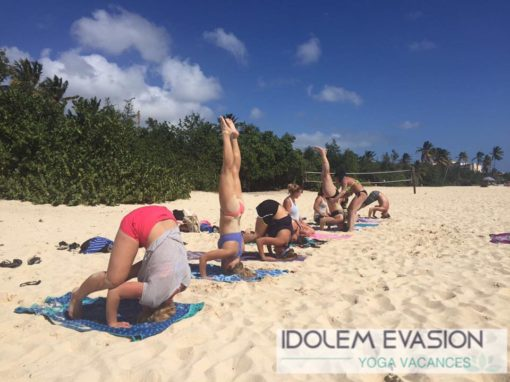 plage retraite yoga saint martin idolem mars 2017