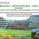 cure de jus retraite de yoga outaouais mai 2017