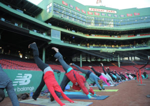 fenway park yoga ( credit photo bostonmagazine.com)