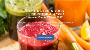 cure de jus retraite yoga ripon 2017