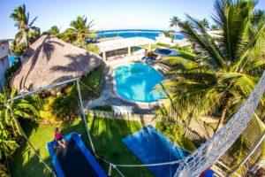 Extreme Hotel - Vue depuis l'installation de trapèze volant