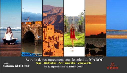 collage maroc septembre retraite yoga meditation
